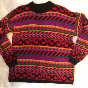 90s Vintage Grunge Sweater Abstract Deco Urban